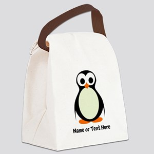 Penguin Personalized Canvas Lunch Bag