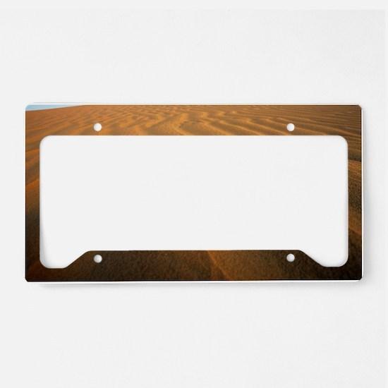 Ripples in sand License Plate Holder