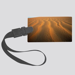 Ripples in sand Large Luggage Tag