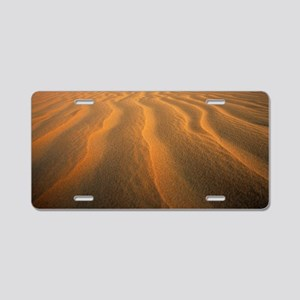 Ripples in sand Aluminum License Plate