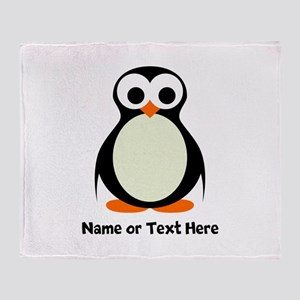 Penguin Personalized Throw Blanket