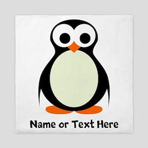 Penguin Personalized Queen Duvet