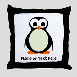 Penguin Personalized Throw Pillow