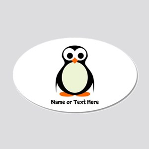 Penguin Personalized 20x12 Oval Wall Decal