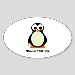 Penguin Personalized Sticker (Oval)