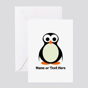 Penguin Personalized Greeting Card