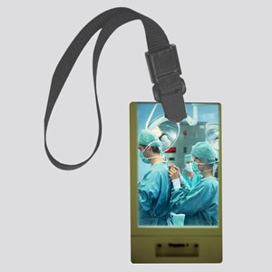 Preparing for surgery Large Luggage Tag