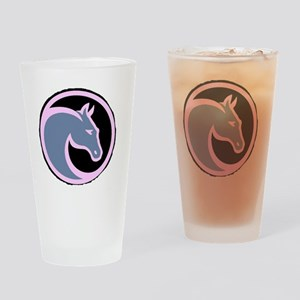 Circle F logo inverted Drinking Glass