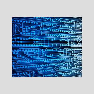 Printed circuit board Throw Blanket