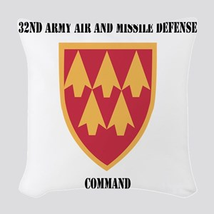 SSI - 32nd Army Air and Missil Woven Throw Pillow