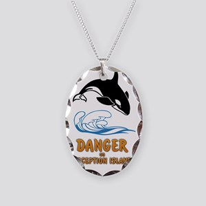 Danger on Deception Island  Necklace Oval Charm