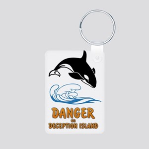Danger on Deception Island Aluminum Photo Keychain