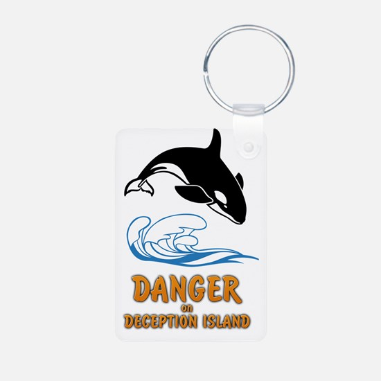 Danger on Deception Island Keychains