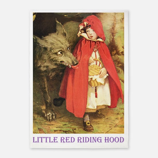 Little Red Riding Hood_purple 5'x7'Area Rug