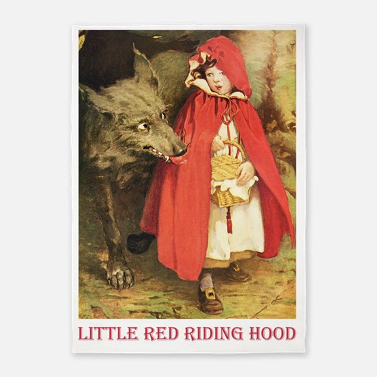 Little Red Riding Hood_red 5'x7'Area Rug