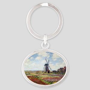 Monet Oval Keychain