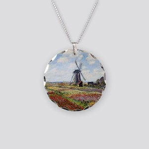 Monet Necklace Circle Charm