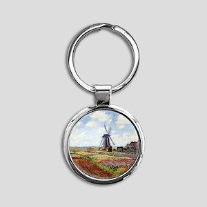 Monet Round Keychain