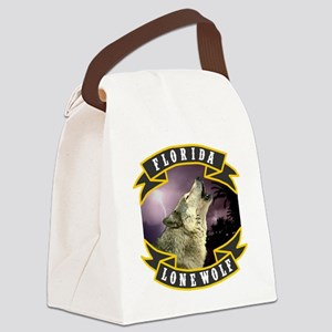 Florida Lone Wolf Pack Logo Canvas Lunch Bag