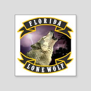 "Florida Lone Wolf Pack Logo Square Sticker 3"" x 3"""