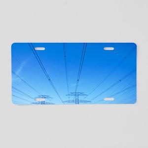 Power lines Aluminum License Plate