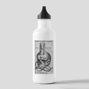 Woodcut of skull, snak Stainless Water Bottle 1.0L