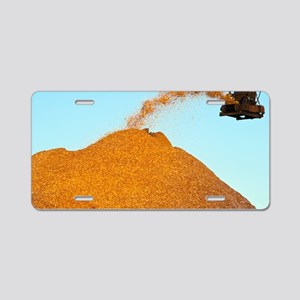 Wood chip production Aluminum License Plate