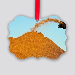 Wood chip production Picture Ornament