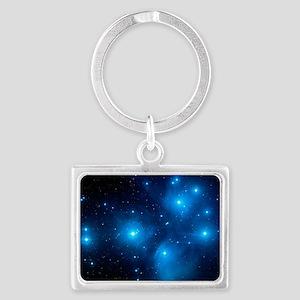 Pleiades star cluster (M45) Landscape Keychain