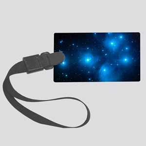 Pleiades star cluster (M45) Large Luggage Tag