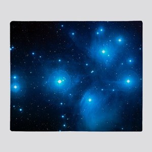 Pleiades star cluster (M45) Throw Blanket