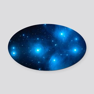 Pleiades star cluster (M45) Oval Car Magnet