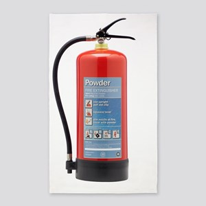 Powder fire extinguisher 3'x5' Area Rug