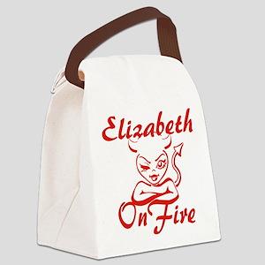 Elizabeth On Fire Canvas Lunch Bag