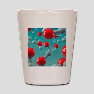 Water molecules, artwork Shot Glass