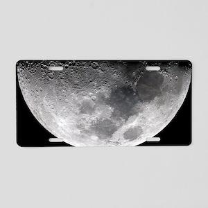 Waxing crescent Moon Aluminum License Plate