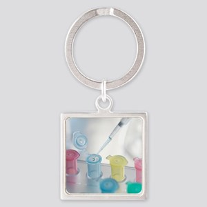 Pipetting Square Keychain