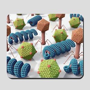 Viruses, artwork Mousepad