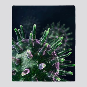Virus particles, artwork Throw Blanket