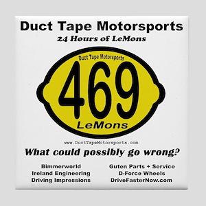 DTM Lemons back clear Tile Coaster