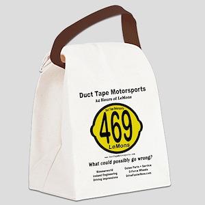 DTM Lemons back clear Canvas Lunch Bag