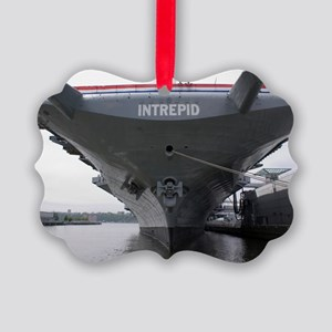 USS Intrepid aircraft carrier Picture Ornament