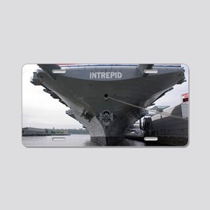 USS Intrepid aircraft carri Aluminum License Plate