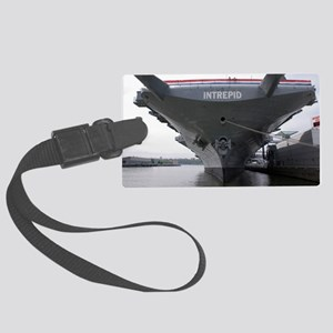 USS Intrepid aircraft carrier Large Luggage Tag