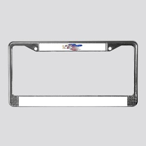 US Flag: American Eagles License Plate Frame