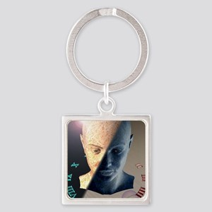 Passage of time, conceptual artwor Square Keychain
