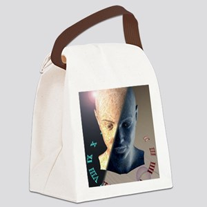 Passage of time, conceptual artwo Canvas Lunch Bag