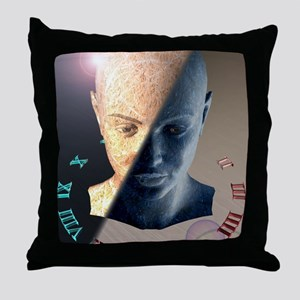 Passage of time, conceptual artwork Throw Pillow