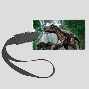 Tyrannosaurus rex dinosaurs Large Luggage Tag