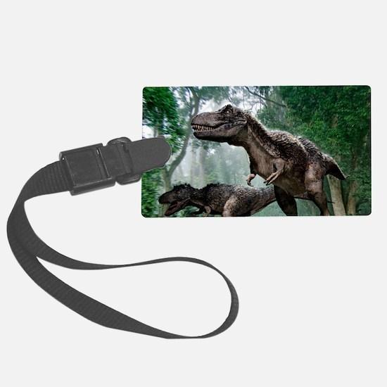 Tyrannosaurus rex dinosaurs Luggage Tag
